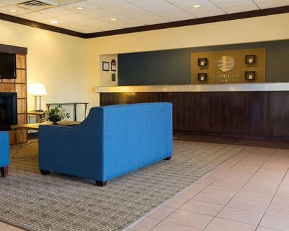 Spacious lobby with sitting area | Comfort Inn & Suites Airport