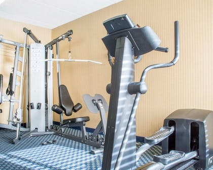 Fitness center with cardio equipment and weights | Comfort Inn Rochester - Greece
