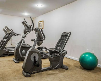 Fitness center with cardio equipment | Clarion Inn & Suites at the Outlets of Lake George