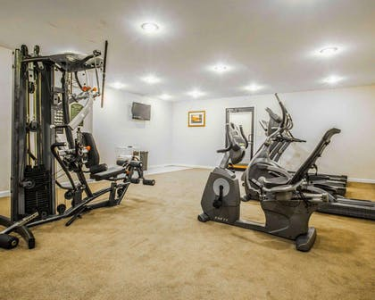 Fitness center with television | Clarion Inn & Suites at the Outlets of Lake George