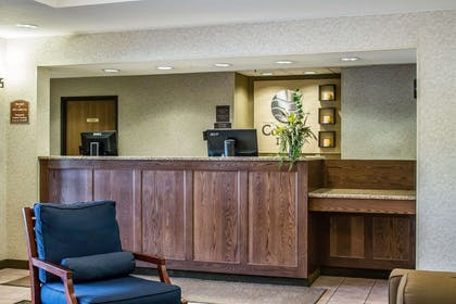 Front desk with friendly staff   Comfort Inn