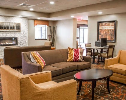Sitting area with fireplace | Comfort Inn & Suites