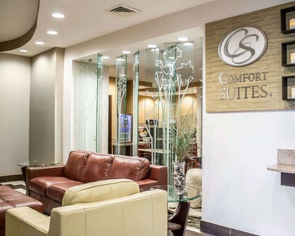 Beautifully decorated hotel lobby | Comfort Suites Perrysburg - Toledo South