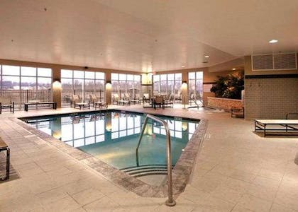 The Refresh area offers a resort-style pool and spa | Cambria Hotel Columbus - Polaris