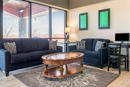 Lobby with sitting area | Quality Inn & Suites Miamisburg - Dayton South