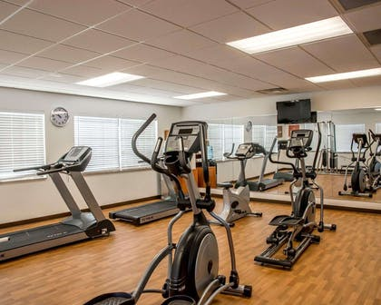 Fitness center with television | Comfort Suites Cincinnati North
