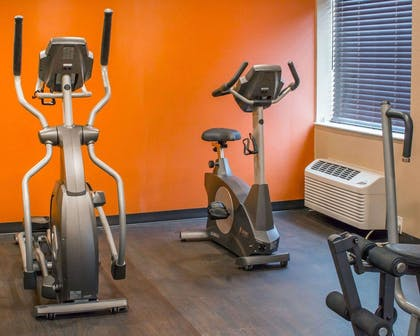 Fitness center with cardio equipment and weights | Comfort Inn Mayfield Heights Cleveland East