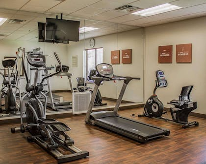 Fitness center with television | Comfort Suites East Broad at 270