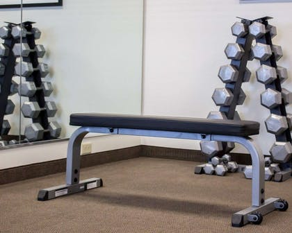 Fitness center with free weights | Sleep Inn & Suites