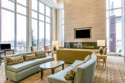 Spacious lobby with sitting area | Cambria Hotel Cleveland Avon