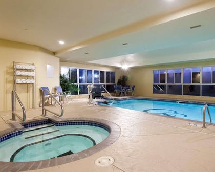 Indoor pool with hot tub | Comfort Suites Central/I-44