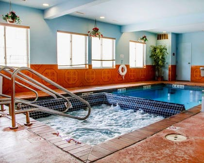 Indoor pool with hot tub | Sleep Inn & Suites Oklahoma City Northwest