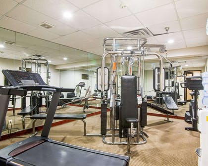 Fitness center with cardio equipment and weights | Comfort Inn Muskogee near Medical Center