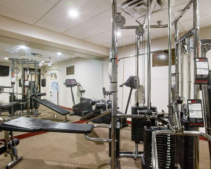 Fitness center with television | Comfort Inn Muskogee near Medical Center