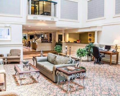Spacious lobby with sitting area | Comfort Suites McAlester