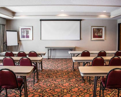 Meeting room with classroom-style setup | Comfort Suites McAlester