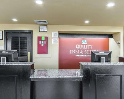 Front desk with friendly staff | Quality Inn & Suites Fairgrounds West